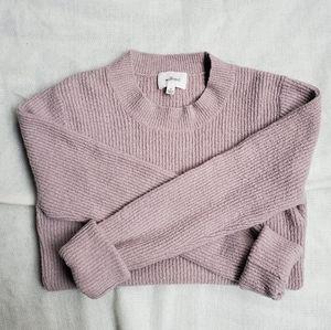 Wilfred aritzia mock neck light pink sweater sizeM